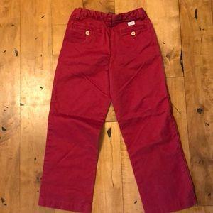 Boys vineyard vines reddish colored khaki pants